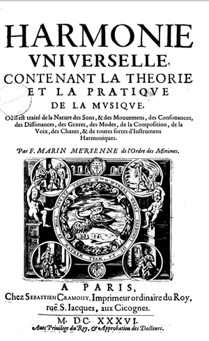 Harmonie universelle - Title page