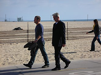 NCIS (season 6) - Image: Mark Harmon and Chris O Donnell (8 March 2009) 7