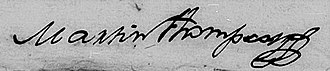 Martín Jacobo Thompson - Image: Martín Thomson, firma