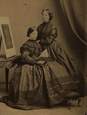 Martha Darley Mutrie - Image: Martha Darley Mutrie and Annie Feray Mutrie, 1860, Maull & Company, National Portrait Gallery, London (2)