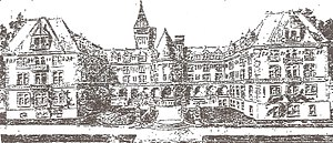 Mary Andrews Clark Memorial Home - Drawing of planned Mary Andrews Clark Home, 1911