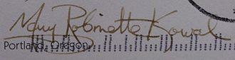 Mary Robinette Kowal - Image: Mary Robinette Kowal signature (Mary Robinette Kowal)