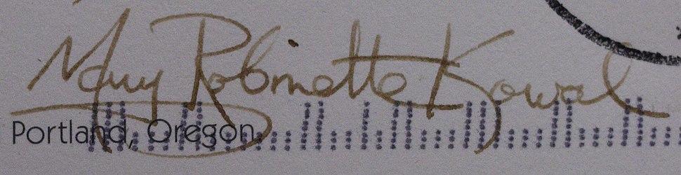 Mary Robinette Kowal signature (Mary Robinette Kowal)