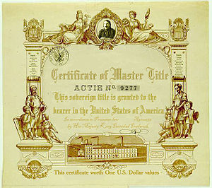 Certificate of the Master title in the United ...