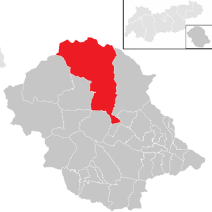 Location of the municipality of Matrei in East Tyrol in the Lienz district (clickable map)
