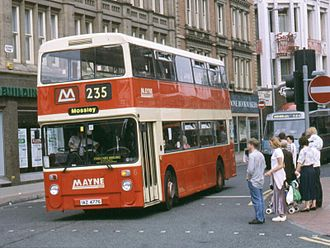 Daimler Fleetline - Mayne Coaches Northern Counties bodied Daimler Fleetline in Manchester
