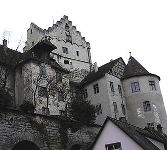 Meersburg Castle - Burg Meersburg from the Steigstraße below the castle