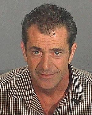 Mugshot of Mel Gibson taken on 28 July 2006.