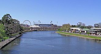 Great Australian Run - Image: Melbourne Yarra River and MCG