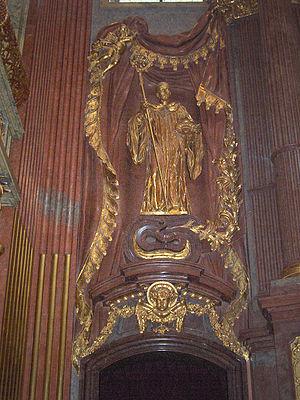 Berthold of Garsten - Statue at Melk Abbey.