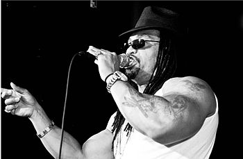 English: Melle Mel performing at the Canal Roo...