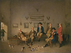 Philip Reinagle - Members of the Carrow Abbey Hunt, Philip Reinagle, 1780. Tate Britain