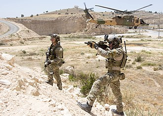 Air force infantry and special forces - U.S. Air Force Special Tactics Commandos training in Jordan
