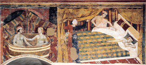 Memmo di Filippuccio, Scene d'amore profane