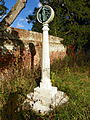 Memorial Cross at St Andrews Churchyard, Much Hadham (8151986822).jpg