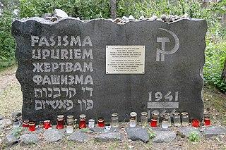 Rumbula massacre 1941 massacre in Riga, Latvia
