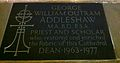 Memorial to George William Outram Addleshaw in Chester Cathedral.JPG