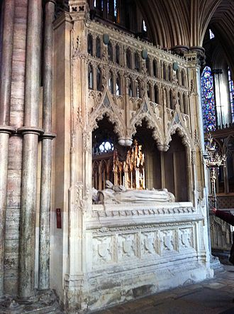 John Tiptoft, 1st Earl of Worcester - Memorial to John Baron Tiptoft, Earl of Worcester in Ely Cathedral