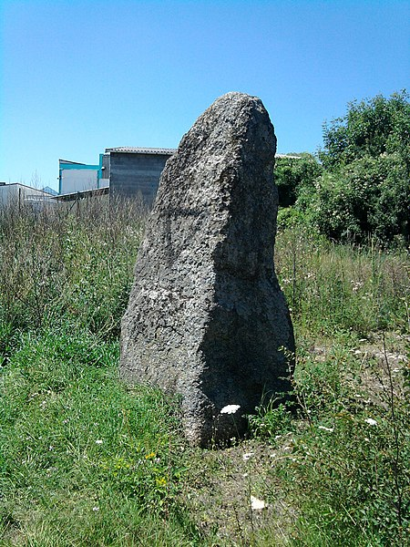 The menhir is located in the technologic park of La Pardieu (Aubière), in the avenue of Nicolas Bourbaki's group.