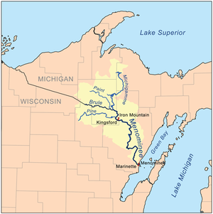 Menominee River - Menominee River watershed