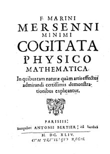 Mersenne - Cogitata physico mathematica, 1644 - 190782.jpg