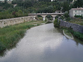 Metauro river in Italy