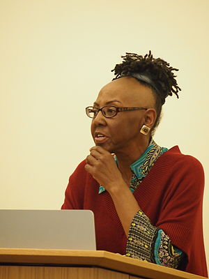 Michelle Parkerson - Michelle Parkerson reading at a tribute to Essex Hemphill, Mt. Pleasant Library, Washington D.C., 2014
