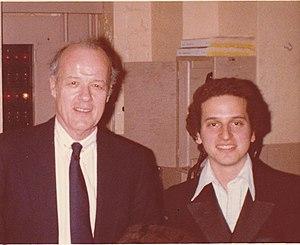 Michael Alden Bayard - Bayard with John de Lancie (Director of the Curtis Institute of Music), 1979