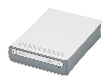 In November 2006, Microsoft released an HD DVD player for their Xbox 360 game console for $199. It came packaged with King Kong and could only play movies. Microsoft-Xbox-360-HD-DVD-Drive-Front.jpg