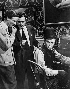 Michael Anderson (director) - Anderson at left with Mike Todd and Frank Sinatra on the set of Around the World in 80 Days.