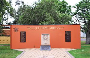 Miles, Queensland - Miles War Memorial and Wall of Remembrance, 2008