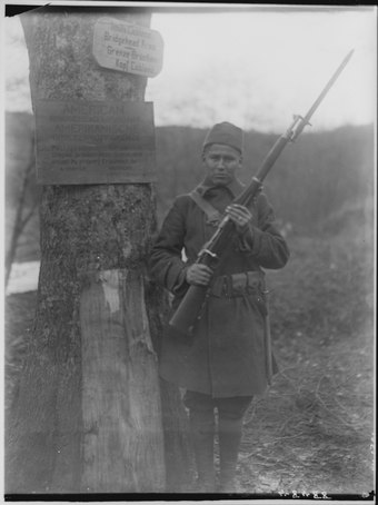 Cpl. George Miner, a Winnebago, of the US Army of Occupation of Germany 1919
