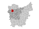 Location of Zomergem in East Flanders
