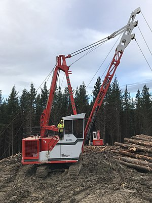 Yarder - Madill 124 Yarder. An example of the modern yarders being used in the forestry industry.