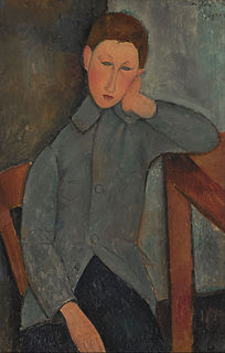 <i>The Boy</i> (Modigliani) Painting by Amadeo Modigliani