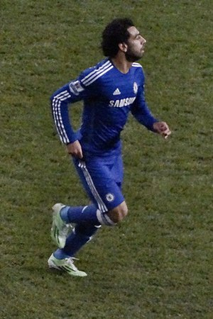 Mohamed Salah - Salah playing for Chelsea away at Tottenham Hotspur on 1 January 2015