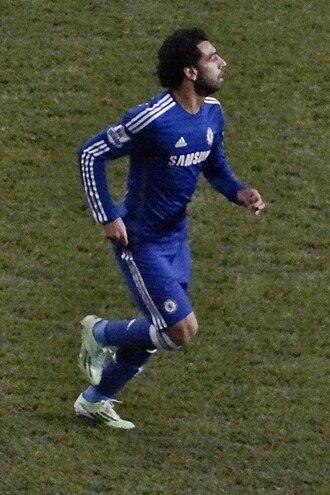 Mohamed Salah - Salah playing for Chelsea away at Tottenham Hotspur on 1 January 2015