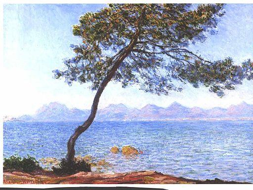 Monet - Cap de Antibes auf das Esterelgebirge