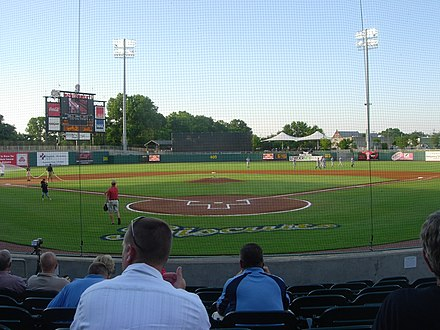 The Montgomery Biscuits play in Riverwalk Stadium Montgomery Riverwalk Stadium.jpg