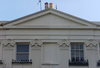 Montpelier Crescent - Some of the crescent's houses were decorated with ammonite capitals.
