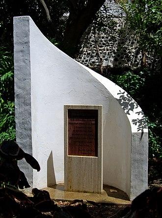 Agaete - Image: Monument Huerto de las Flores