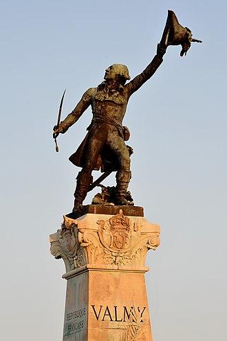 Battle of Valmy - Valmy obelisk with statue of Kellermann