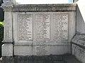Monument aux morts de Miribel (Ain) - inscriptions à gauche.JPG