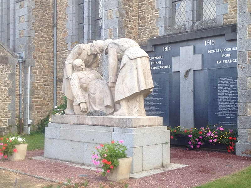 Monument aux morts de St Germain d'Anxure (Mayenne, France)