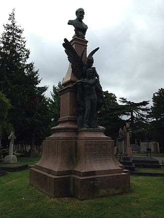 Peter Nicol Russell - Russell's monument in East Finchley Cemetery in 2016.