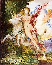Europa y el toro de Gustave Moreau (c. 1869).