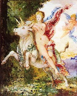 Europa and the Bull by Gustave Moreau, circa 1869.