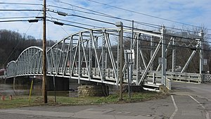 Malta, Ohio - The Morgan County Veterans' Memorial Bridge, which connects Malta to McConnelsville