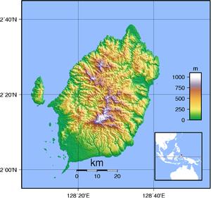 Morotai - Image: Morotai Topography