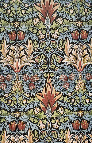 Snakeshead printed cotton designed by William ...